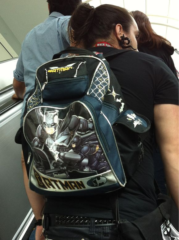 #Batman backpack on attendee at #sdcc